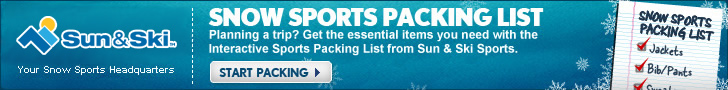Check out the new Sun & Ski Interactive packing List