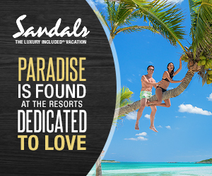 Dear Love, We have 65% off at Sandals Resorts.