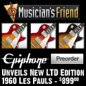 New LTD Edition 1960 Les Pauls from Epiphone