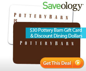 Pottery Barn & Discount Dining Dollars