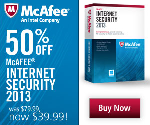 50% off McAfee Internet Safety