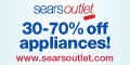 30-70% off Sears Outlet Applicances