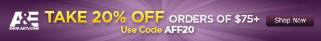 Save 20% on A&E Orders!