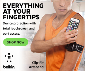 NEW! Belkin Clip Fit Armband for iPhone 6 - Banner