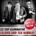 ZZ Top Eliminator - CD/DVD and Tee Bundle