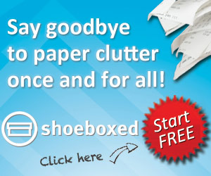 Say goodbye to paper clutter! Shoeboxed.com