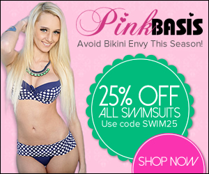 Get ready for hitting the pool in Vegas or walking the beach with 25% Off all swimsuits at PinkBasis