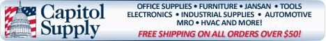 Office supplies,Furniture,Jansan,Electronics,Tools,Industrial Supplies Automotive, MRO,HVAC,Capitol Supply