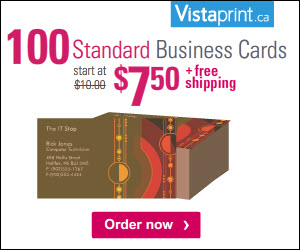 100 Standard Business Cards for $7.50, Plus Free Shipping