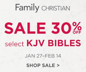 30% off Select KJV Bibles