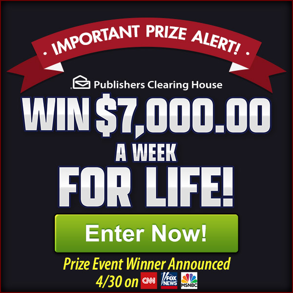 Enter to Win a ,000,000 Prize of a Lifetime