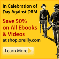 Save 50% on all Ebooks and Videos to celebrate Day Against DRM