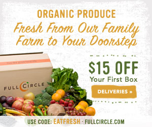 $15 Off Your First Box at FullCircle.com with code EATFRESH