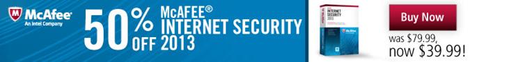50% off McAfee Internet Safety