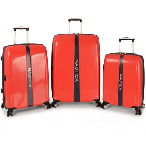 Nautica Landfall 3 Piece Hardside Spinner Luggage Set is now only $162.47! Org. $1,080.00 Plus Free