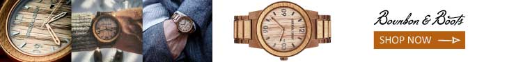 Handcrafted Wrist Watch Made from Bourbon Barrel