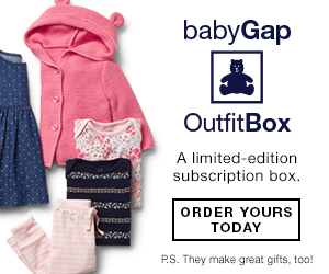 Get 6 mix-and-match baby pieces with the babyGap Outfit Box. Makes a great gift too!