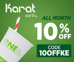 Save the earth in style! Get 10% off Karat Earth with promo code 10OFFKE!