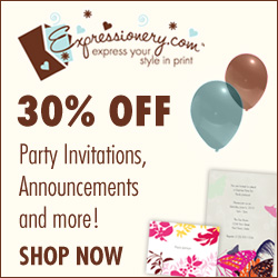 Save 30% on Party Stationery at Expressionery
