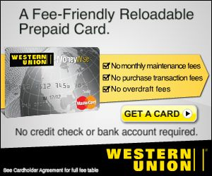 Western Union Mastercard Low Fees