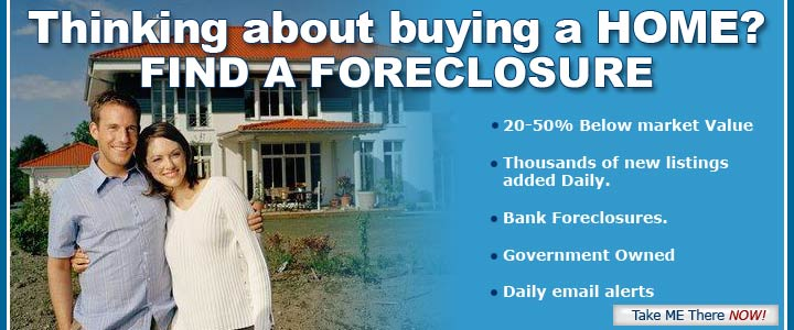 Thinking about buying a home? Find a foreclosure