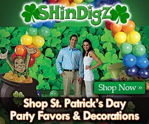 Shop St. Patricks Day Party Supplies at Shindigz!
