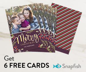 Get 6 FREE cards on Snapfish!