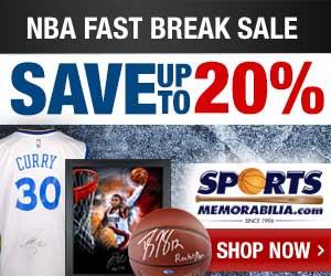 Get $15 For Every $100 You Spend at SportsMemorabilia.com through 9/22