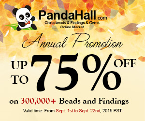 Up to 75% off on 300000+ Beads and Findings, Valid time: From Sept. 1st to Sept. 22nd, 2015 PST