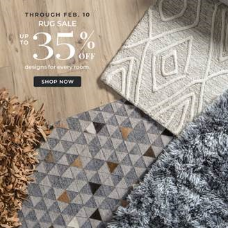 Rug Sale: Up to 35% Off Designs For Every Room. Valid 1/25 - 2/10.