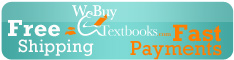 Sell your textbooks and get free UPS shipping