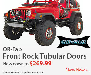 Get Rock Front Tubular Jeep Doors for $269.99 by OR-FAB
