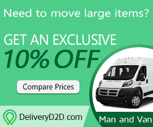 10% OFF DeliveryD2D.com Man and Van Service