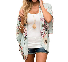 Best sellers of Bellelily! $13.89=Floral Batwing Sleeve Cardigan without Necklace