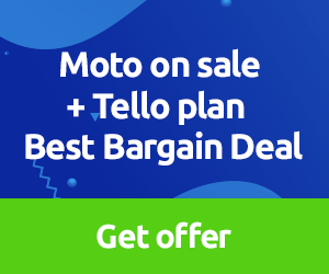 Moto on sale + Tello Plan. Best Bargain Deal.