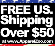 Free US. Shipping On All Orders Over $50 at ApparelZoo