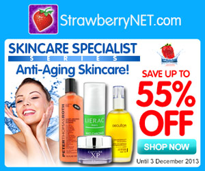 Save up to 55% OFF Anti-Aging Skincare at StrawberryNet! Valid 11/27/13-12/3/13. Shop now!