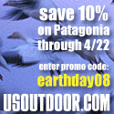 Earth Day Offer: 10 % Off Patagonia at USOUTDOOR
