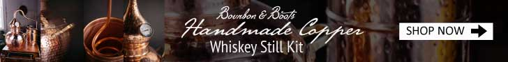 Bourbon & Boots Unique Barware Handmade Copper Whiskey Still Kit, 5 Gallon
