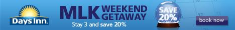 20% off long weekends