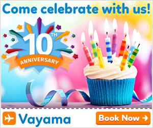 Click Here 4 Vayama Birthday Savings.
