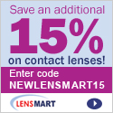 Save 15% today at Lens Mart!