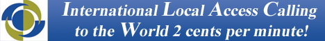 international local access calling card service to the world
