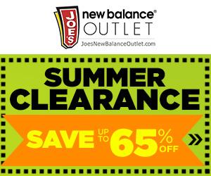 Joe's New Balance Outlet Summer Clearance Event