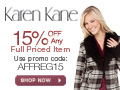 Save 15% Off Regular Priced Items
