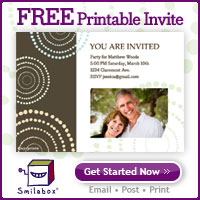 Free Printable Invite from Smilebox