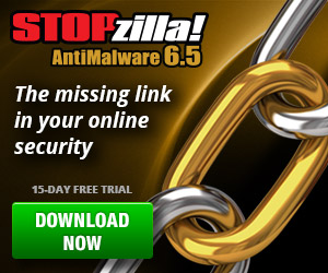 STOPzilla AntiMalware 6.5 - The Missing Link in your Online Security. Download Now!
