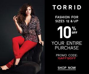 Save 10% at Torrid.com
