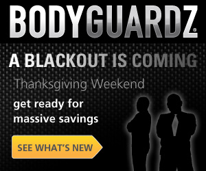 BodyGuardz Blackout Sale