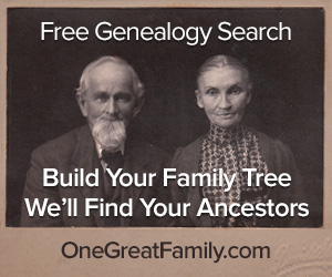 300x250 Free Genealogy Search